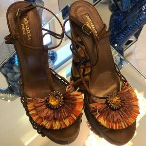 Aquazzura samba suede sandal multicoloured Sandals